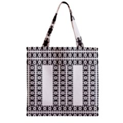 Pattern Background Texture Black Zipper Grocery Tote Bag