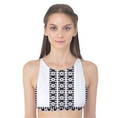 Pattern Background Texture Black Tank Bikini Top