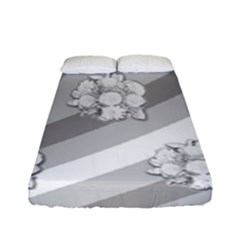 Stripes Pattern Background Design Fitted Sheet (Full/ Double Size)