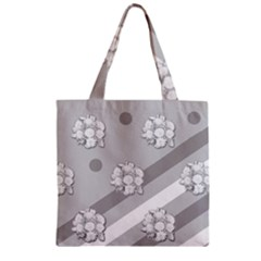 Stripes Pattern Background Design Zipper Grocery Tote Bag