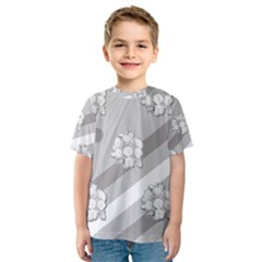 Stripes Pattern Background Design Kids  Sport Mesh Tee