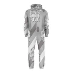 Stripes Pattern Background Design Hooded Jumpsuit (Kids)