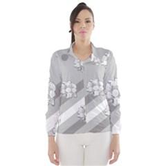 Stripes Pattern Background Design Wind Breaker (Women)