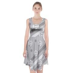 Stripes Pattern Background Design Racerback Midi Dress