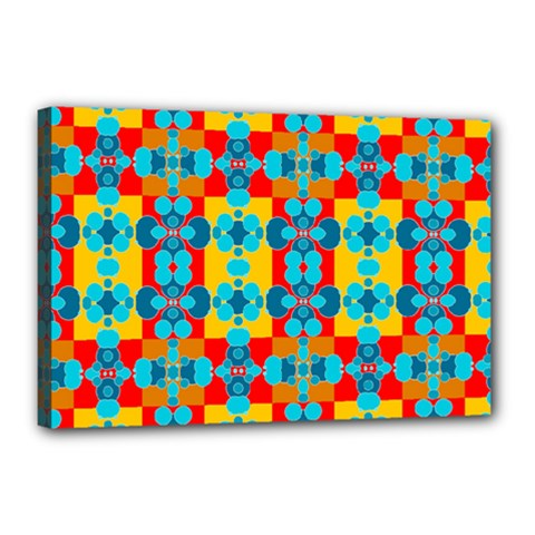 Pop Art Abstract Design Pattern Canvas 18  x 12