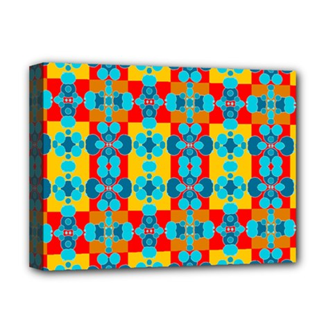 Pop Art Abstract Design Pattern Deluxe Canvas 16  x 12