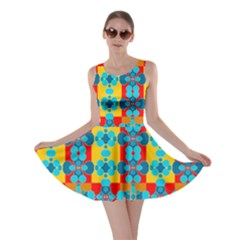 Pop Art Abstract Design Pattern Skater Dress
