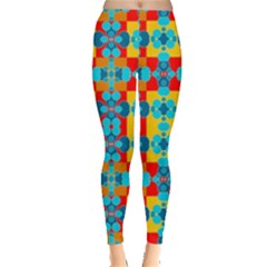 Pop Art Abstract Design Pattern Leggings