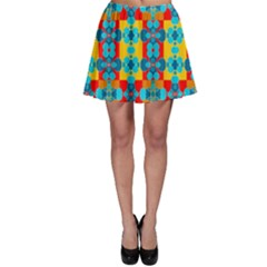 Pop Art Abstract Design Pattern Skater Skirt