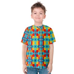 Pop Art Abstract Design Pattern Kids  Cotton Tee