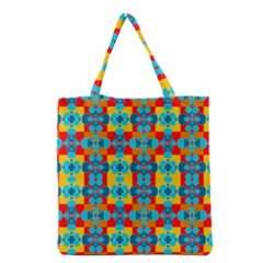 Pop Art Abstract Design Pattern Grocery Tote Bag