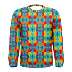 Pop Art Abstract Design Pattern Men s Long Sleeve Tee