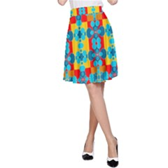 Pop Art Abstract Design Pattern A-Line Skirt