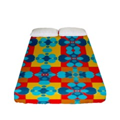 Pop Art Abstract Design Pattern Fitted Sheet (Full/ Double Size)