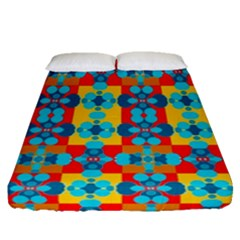Pop Art Abstract Design Pattern Fitted Sheet (Queen Size)