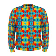 Pop Art Abstract Design Pattern Men s Sweatshirt