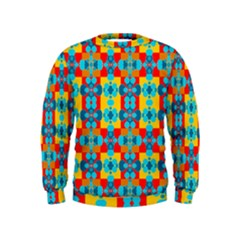 Pop Art Abstract Design Pattern Kids  Sweatshirt