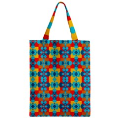 Pop Art Abstract Design Pattern Zipper Classic Tote Bag