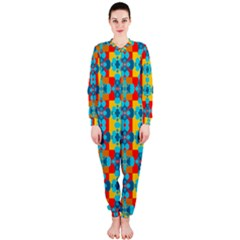 Pop Art Abstract Design Pattern OnePiece Jumpsuit (Ladies)