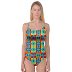 Pop Art Abstract Design Pattern Camisole Leotard