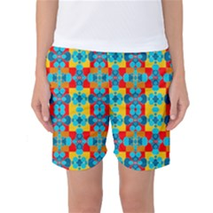 Pop Art Abstract Design Pattern Women s Basketball Shorts