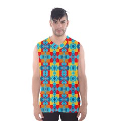 Pop Art Abstract Design Pattern Men s Basketball Tank Top