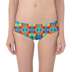 Pop Art Abstract Design Pattern Classic Bikini Bottoms