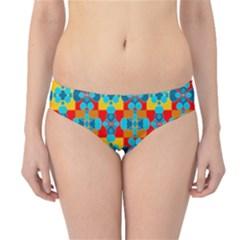 Pop Art Abstract Design Pattern Hipster Bikini Bottoms