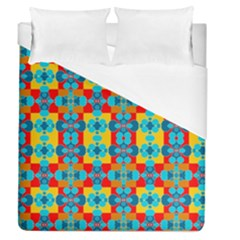 Pop Art Abstract Design Pattern Duvet Cover (Queen Size)