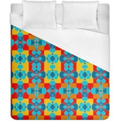Pop Art Abstract Design Pattern Duvet Cover (California King Size)
