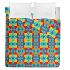 Pop Art Abstract Design Pattern Duvet Cover Double Side (Queen Size)