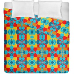 Pop Art Abstract Design Pattern Duvet Cover Double Side (King Size)