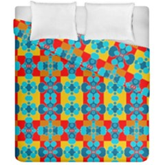 Pop Art Abstract Design Pattern Duvet Cover Double Side (California King Size)