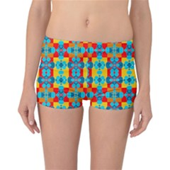 Pop Art Abstract Design Pattern Reversible Bikini Bottoms