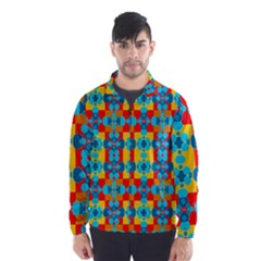 Pop Art Abstract Design Pattern Wind Breaker (Men)