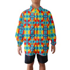 Pop Art Abstract Design Pattern Wind Breaker (Kids)