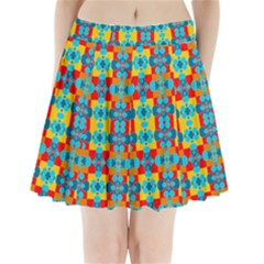 Pop Art Abstract Design Pattern Pleated Mini Skirt