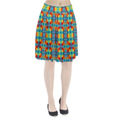 Pop Art Abstract Design Pattern Pleated Skirt