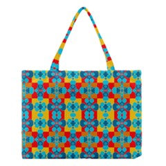 Pop Art Abstract Design Pattern Medium Tote Bag