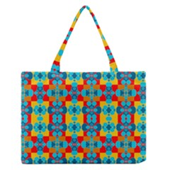 Pop Art Abstract Design Pattern Medium Zipper Tote Bag