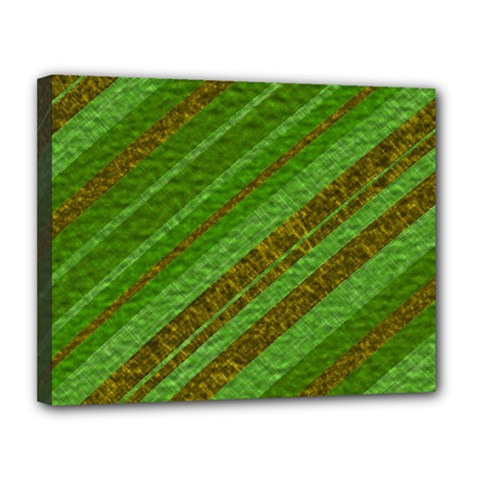 Stripes Course Texture Background Canvas 14  x 11