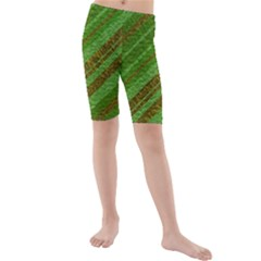 Stripes Course Texture Background Kids  Mid Length Swim Shorts