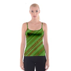 Stripes Course Texture Background Spaghetti Strap Top