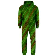 Stripes Course Texture Background Hooded Jumpsuit (Men)