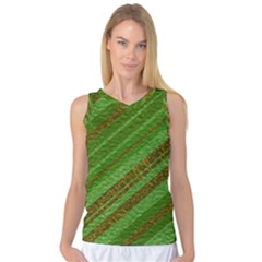 Stripes Course Texture Background Women s Basketball Tank Top