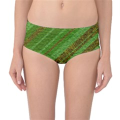 Stripes Course Texture Background Mid-Waist Bikini Bottoms