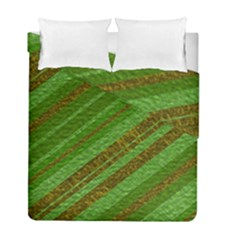 Stripes Course Texture Background Duvet Cover Double Side (Full/ Double Size)