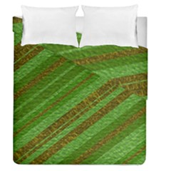 Stripes Course Texture Background Duvet Cover Double Side (Queen Size)