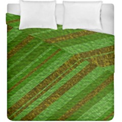 Stripes Course Texture Background Duvet Cover Double Side (King Size)