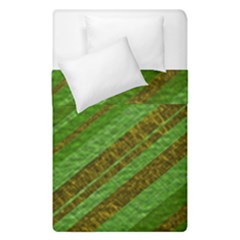 Stripes Course Texture Background Duvet Cover Double Side (Single Size)